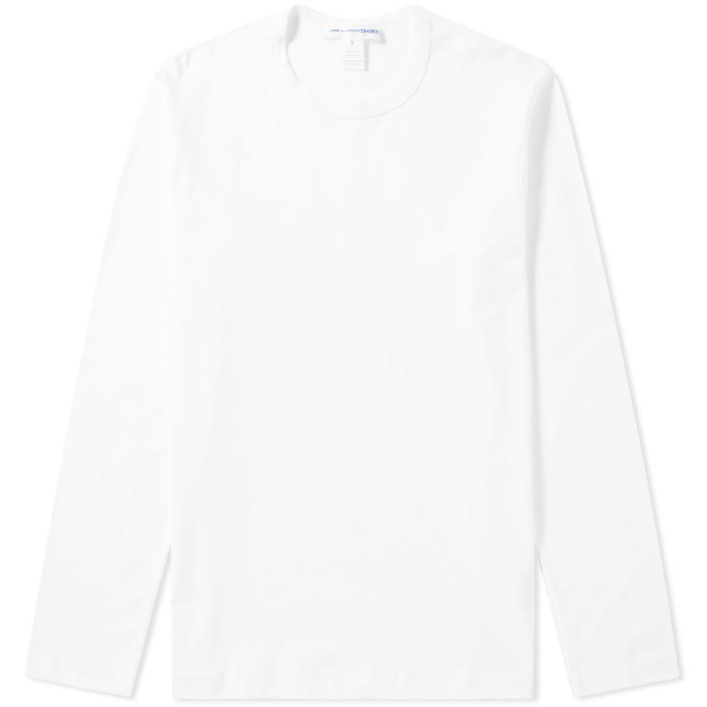 コム デ ギャルソン Comme des Garcons SHIRT メンズ 長袖Tシャツ トップス【long sleeve classic tee】White