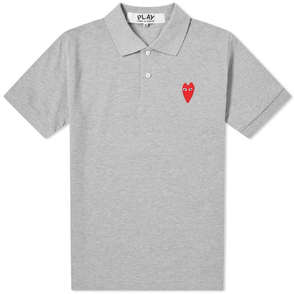 コム デ ギャルソン Comme des Garcons Play メンズ ポロシャツ トップス【large heart polo】Grey