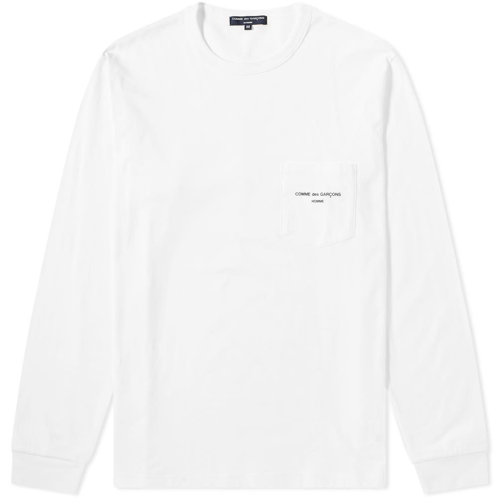 コム デ ギャルソン Comme des Garcons Homme メンズ 長袖Tシャツ ロゴTシャツ トップス【long sleeve logo tee】White