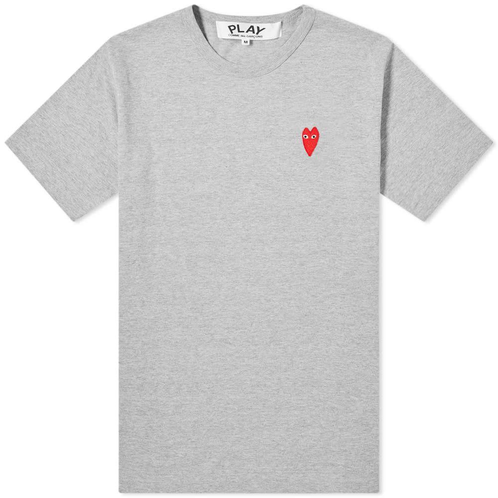 コム デ ギャルソン Comme des Garcons Play メンズ Tシャツ トップス【large heart tee】Grey