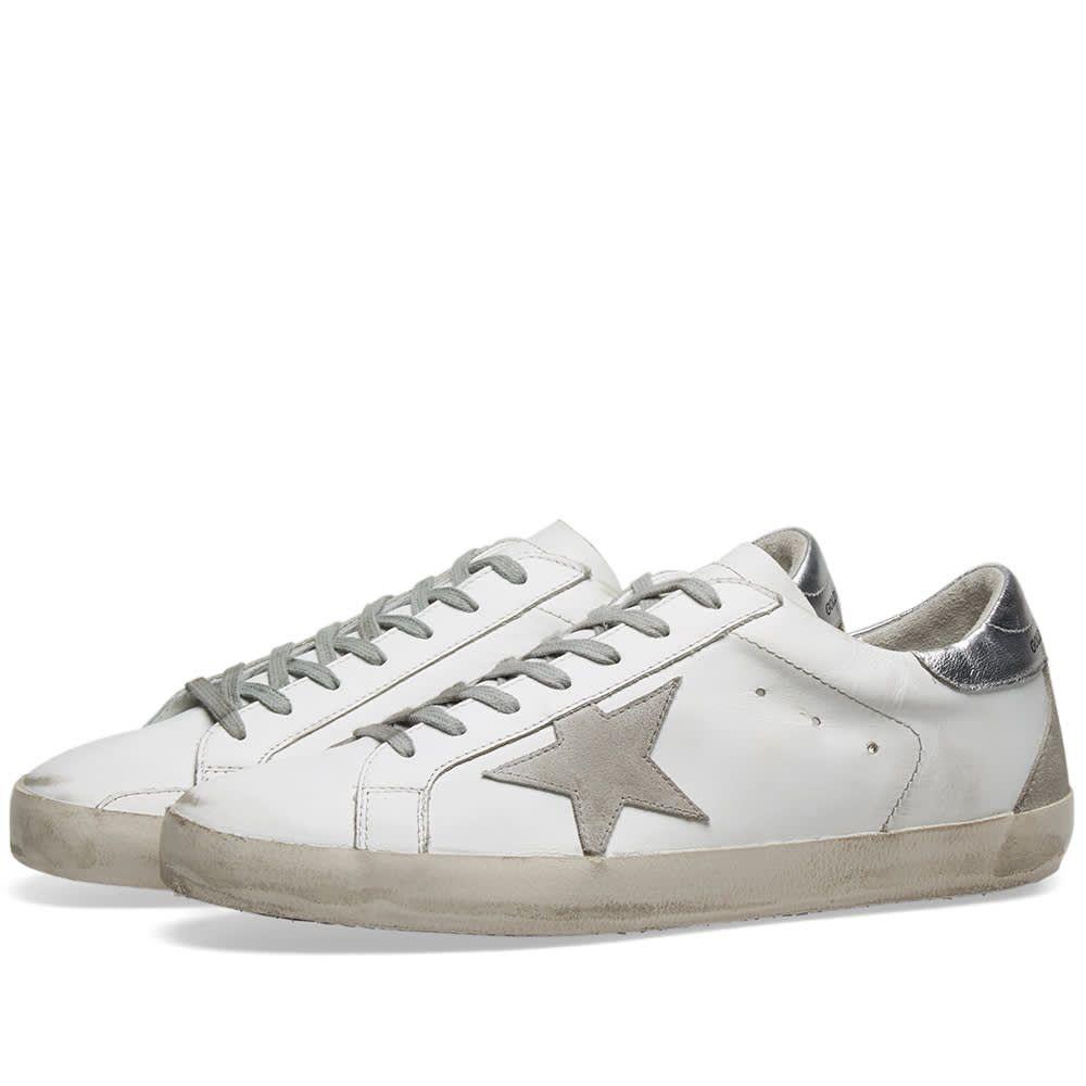 ゴールデン グース Golden Goose メンズ シューズ・靴 スニーカー【Superstar Leather Sneaker】White/Silver