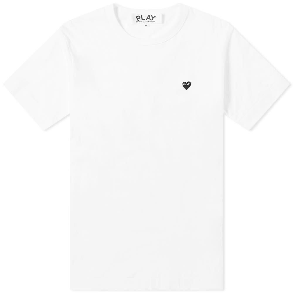 コム デ ギャルソン Comme des Garcons Play メンズ Tシャツ トップス【little black heart tee】White