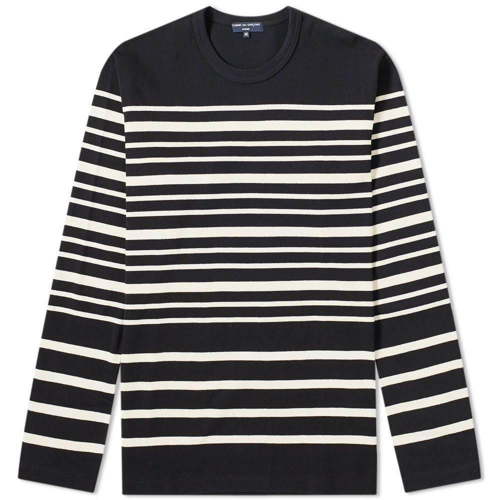 コム デ ギャルソン Comme des Garcons Homme メンズ 長袖Tシャツ トップス【long sleeve stripe tee】Navy/White