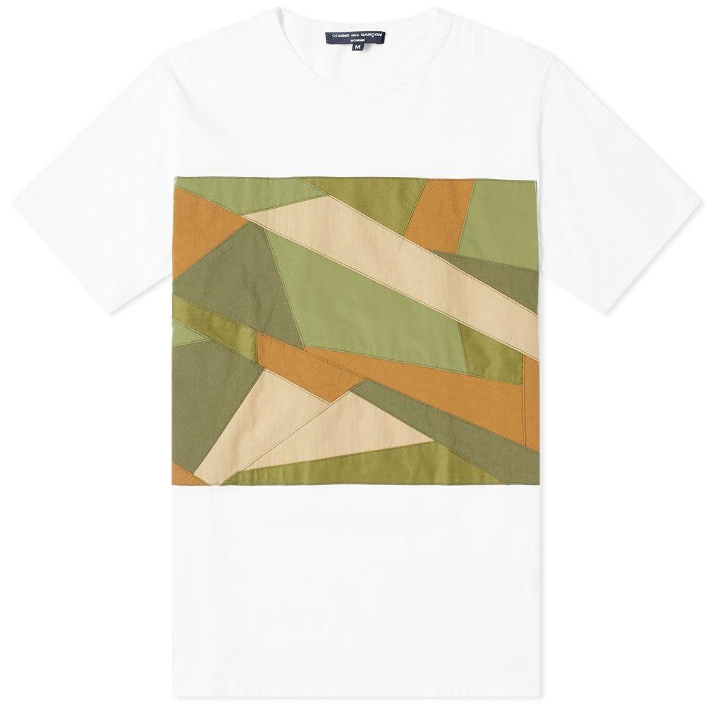 コム デ ギャルソン Comme des Garcons Homme メンズ Tシャツ トップス【fabric camo insert tee】White/Camo