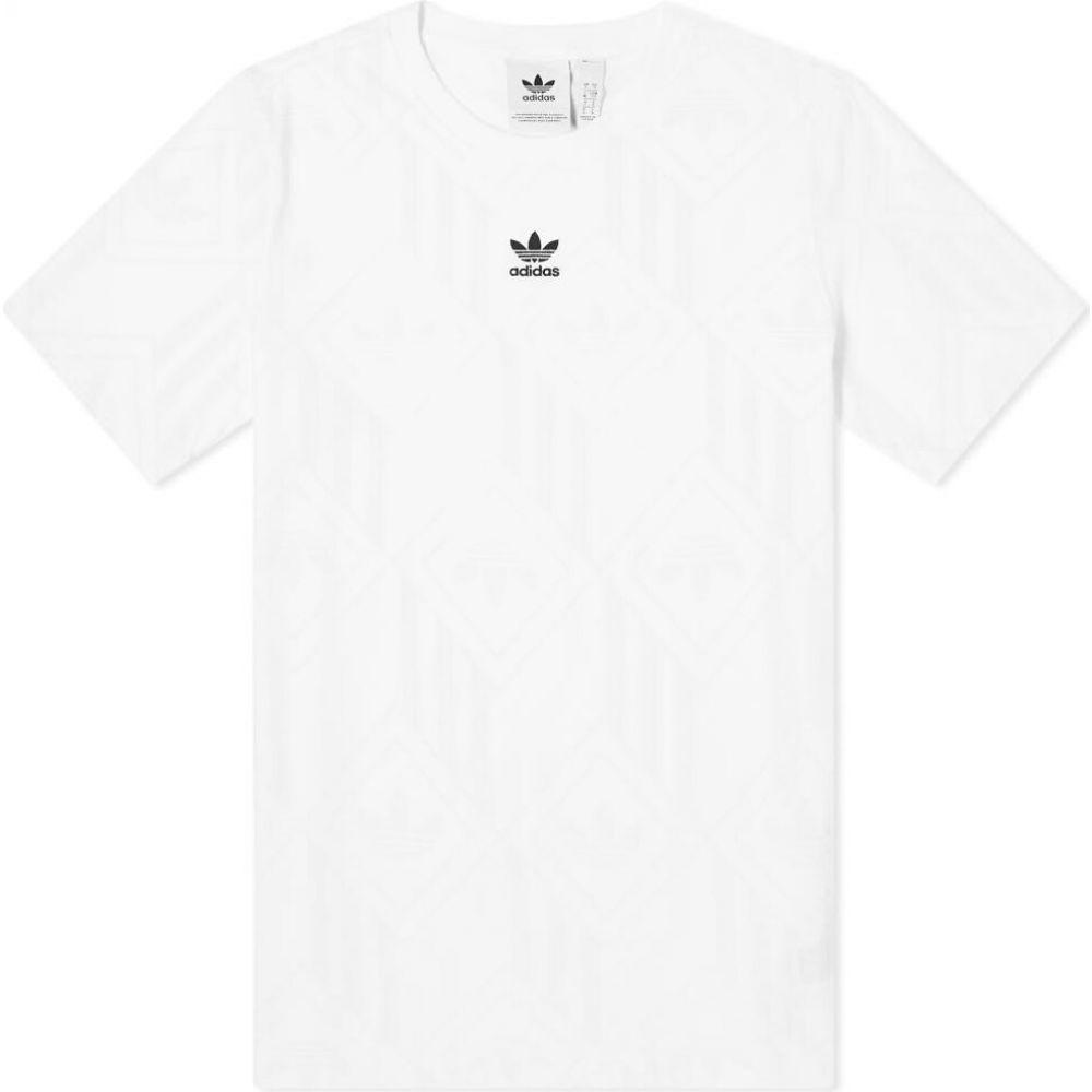 【祝開店!大放出セール開催中】 アディダス Adidas メンズ Tシャツ トップス【Mono Tonal Tee】White/Grey One, フィットネスのパレットファイブ 8fa49f2b