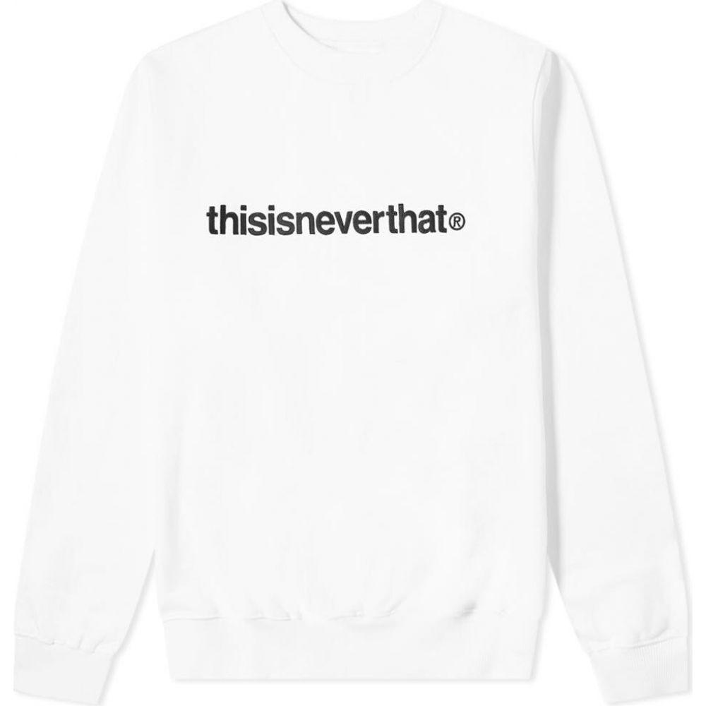 ディスイズネバーザット thisisneverthat メンズ スウェット・トレーナー トップス【T-Logo Crew Sweat】White