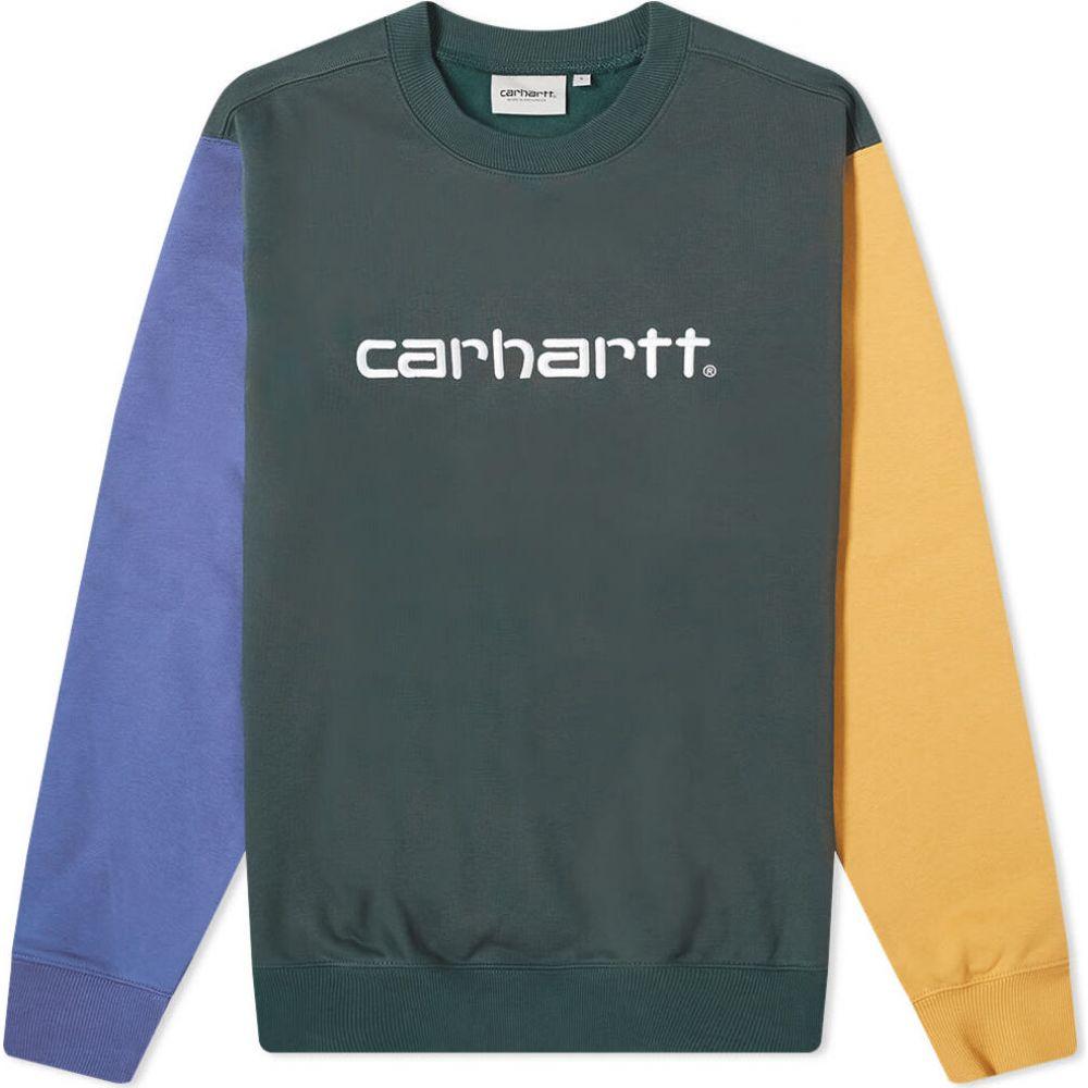 カーハート Carhartt WIP メンズ スウェット・トレーナー トップス【Carhartt Tricol Crew Sweat】Dark Teal