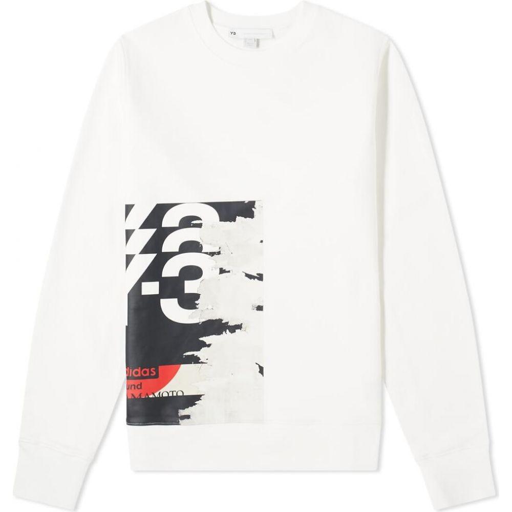ワイスリー Y-3 メンズ スウェット・トレーナー トップス【Graphic Logo Crew Sweat】Core White