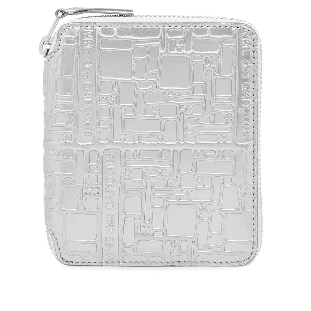 コムデギャルソン Comme des Garcons Wallet メンズ 財布 【comme des garcons sa2100eg embossed logo wallet】Silver