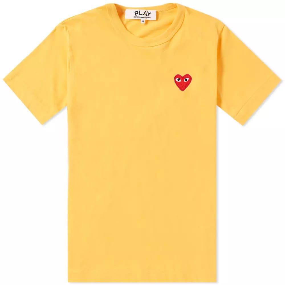 コム デ ギャルソン Comme des Garcons Play レディース Tシャツ ロゴTシャツ トップス【colour series logo tee】Yellow