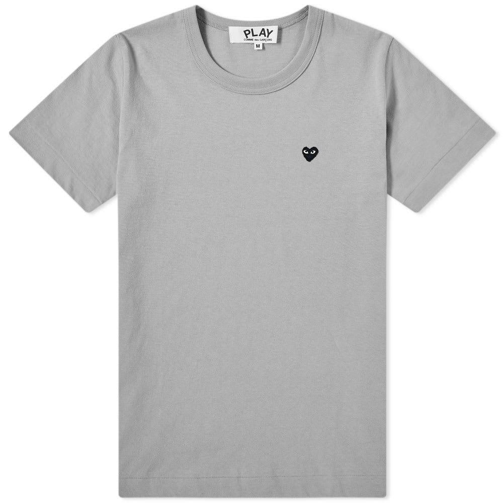 コム デ ギャルソン Comme des Garcons Play レディース Tシャツ ロゴTシャツ トップス【colour series logo tee】Grey/Black