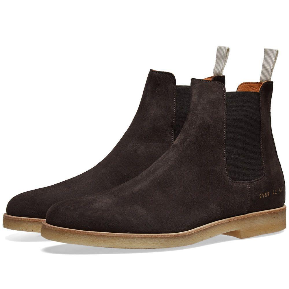 コモン プロジェクト Common Projects メンズ シューズ・靴 ブーツ【Suede Chelsea Boot】Washed Black