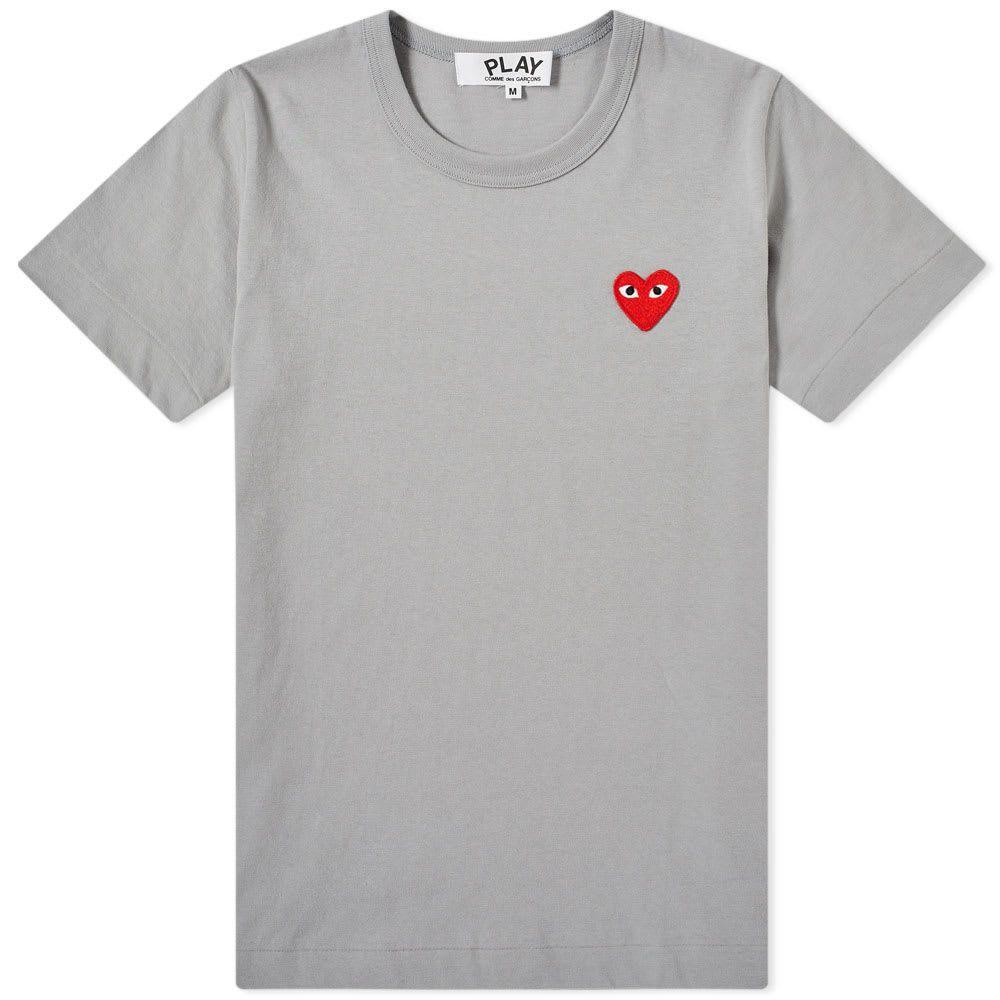 コム デ ギャルソン Comme des Garcons Play レディース Tシャツ ロゴTシャツ トップス【colour series logo tee】Grey