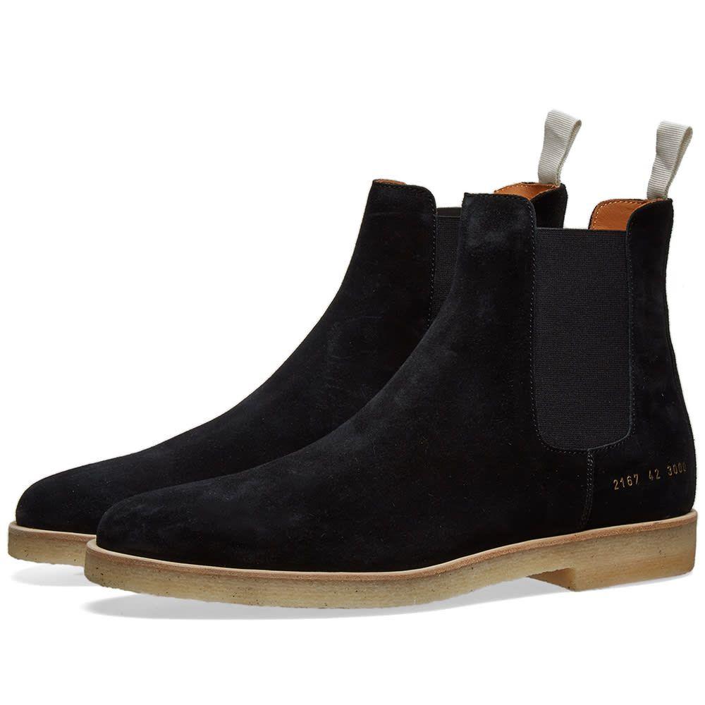 コモン プロジェクト Common Projects メンズ シューズ・靴 ブーツ【Suede Chelsea Boot】Black