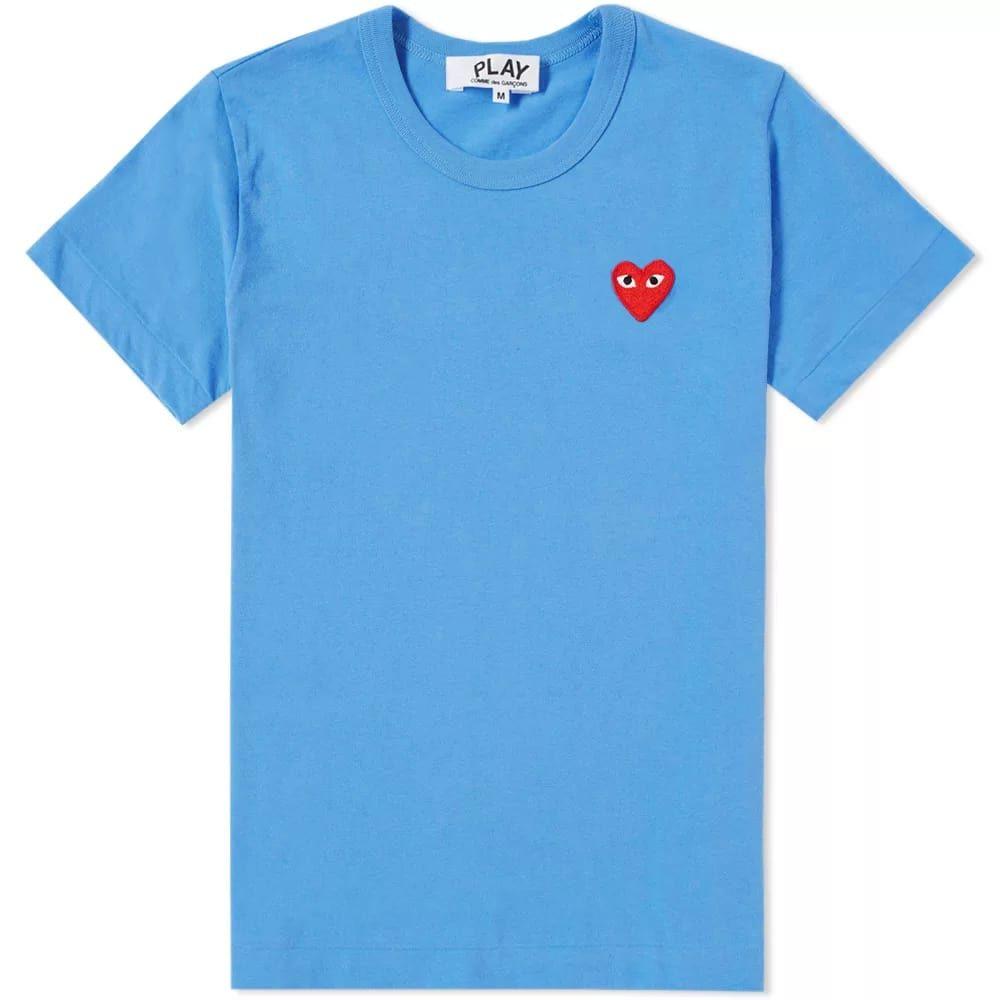 コム デ ギャルソン Comme des Garcons Play レディース Tシャツ ロゴTシャツ トップス【colour series logo tee】Blue