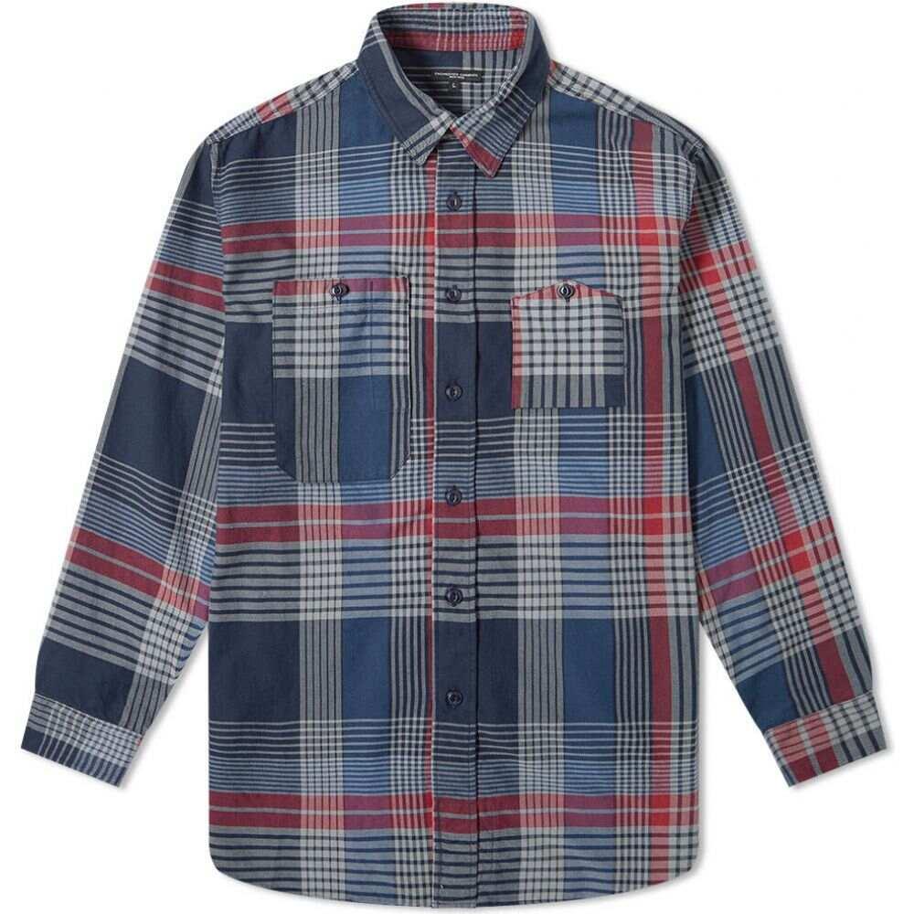 エンジニアードガーメンツ Engineered Garments メンズ シャツ トップス【work shirt】Navy/Grey/Red