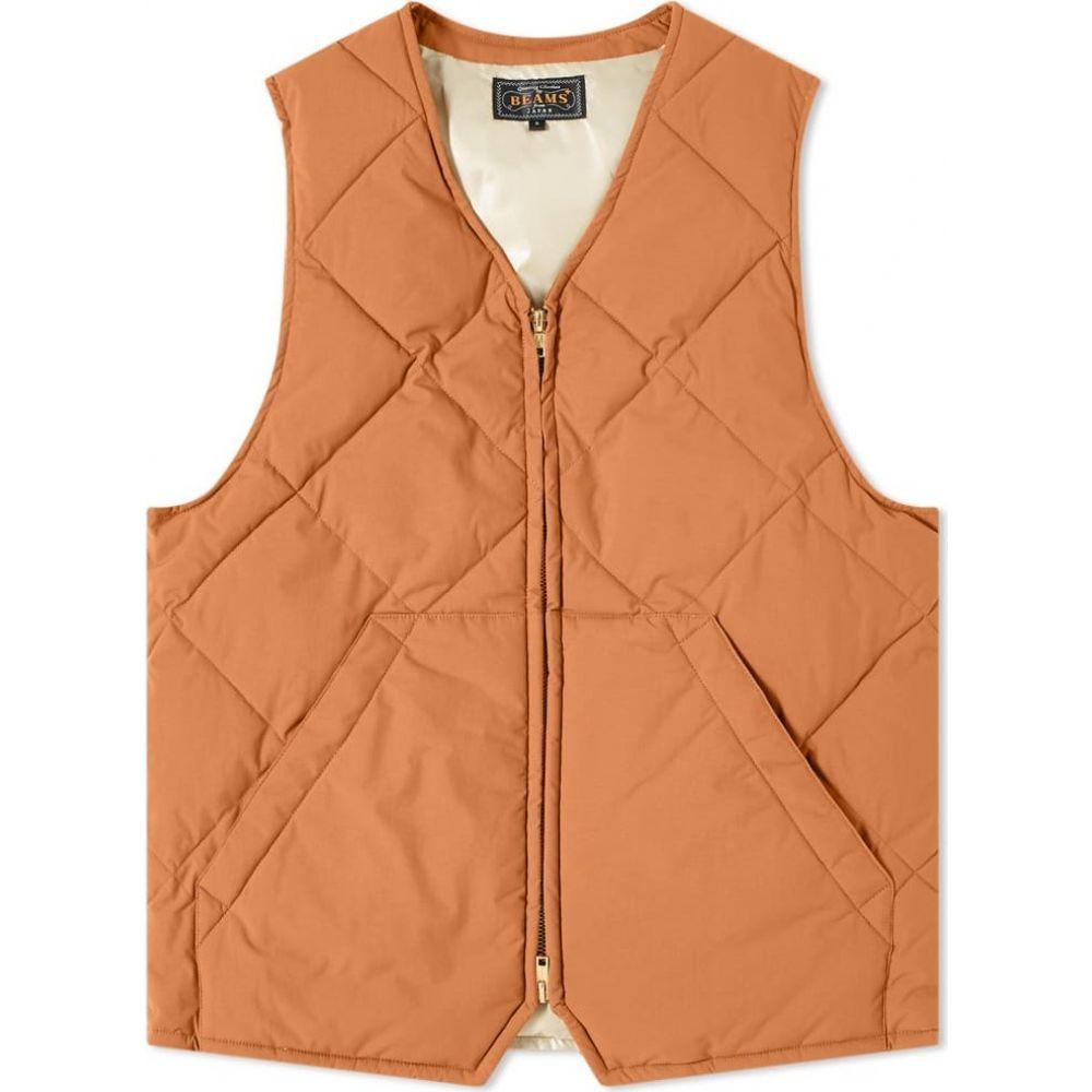ビームス プラス Beams Plus メンズ ベスト・ジレ トップス【quilted stitch 2 layer vest】Light Brown