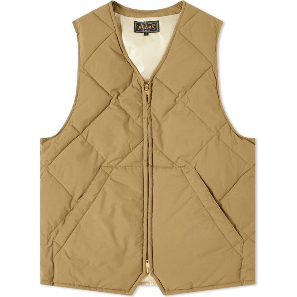 ビームス プラス Beams Plus メンズ ベスト・ジレ トップス【quilted stitch 2 layer vest】Olive