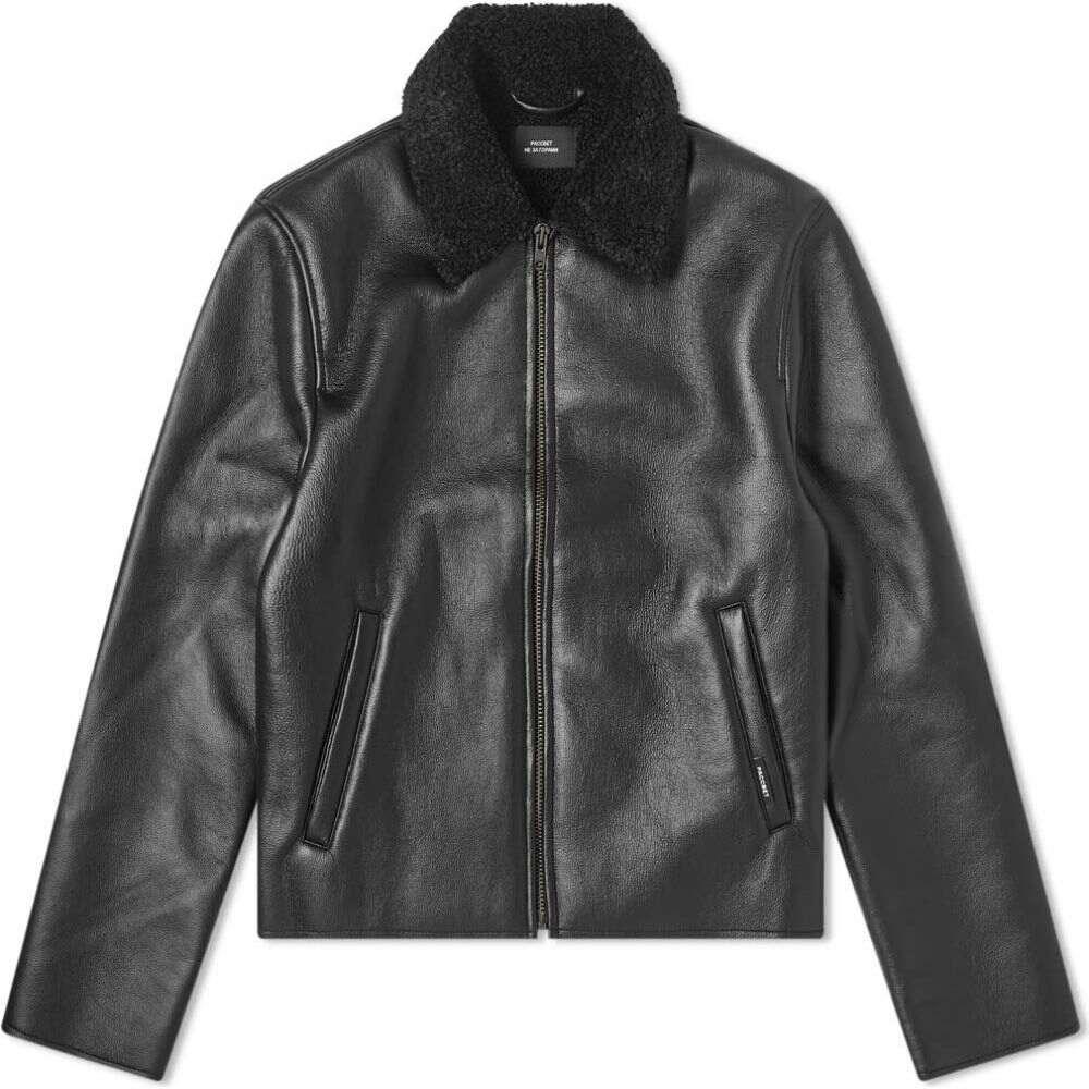 大きい割引 ラスベート jacket】Black PACCBET メンズ レザージャケット レザージャケット アウター【faux leather jacket PACCBET】Black, 苅田町:0408a8cd --- experiencesar.com.ar