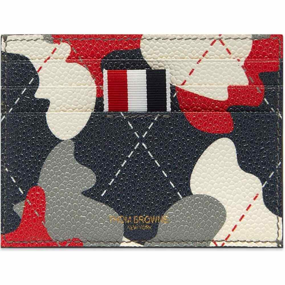 <title>トム ブラウン メンズ 財布 時計 雑貨 カードケース 名刺入れ Red White Blue サイズ交換無料 予約 Thom Browne カードホルダー camo argyle card holder</title>