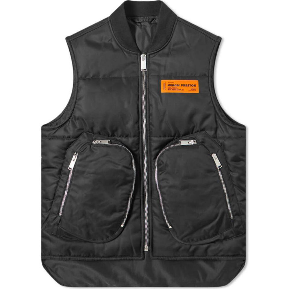 ヘロン プレストン メンズ トップス メーカー公式 ベスト ジレ nylon Heron 売り込み Black サイズ交換無料 Preston vest