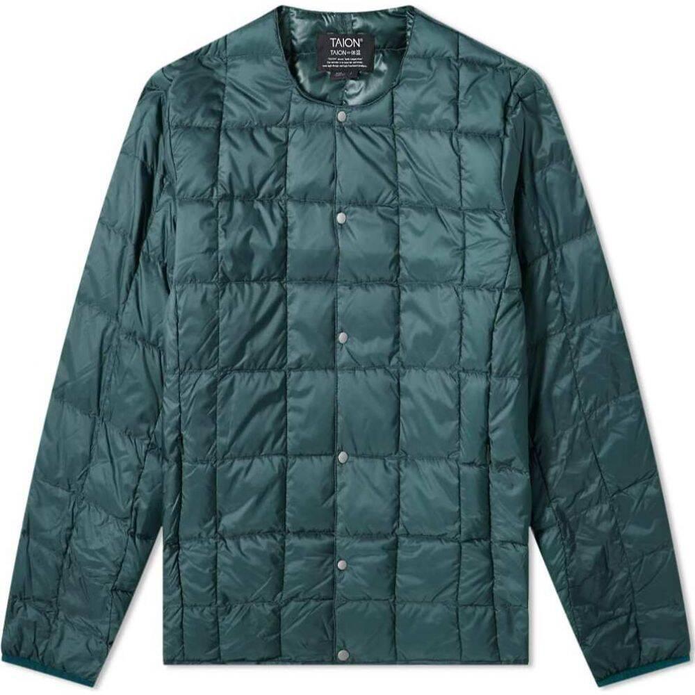 タイオン セール品 メンズ アウター 新品未使用正規品 ダウン 中綿ジャケット Green neck Taion crew jacket サイズ交換無料 down