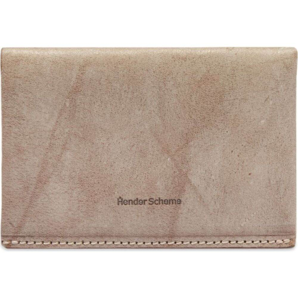 エンダースキーマ Hender Scheme メンズ カードケース・名刺入れ 【compact card case】Ivory