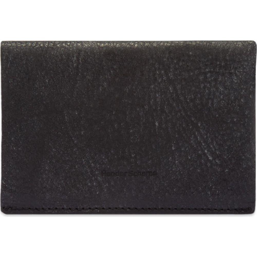 エンダースキーマ Hender Scheme メンズ カードケース・名刺入れ 【compact card case】Black/Blue