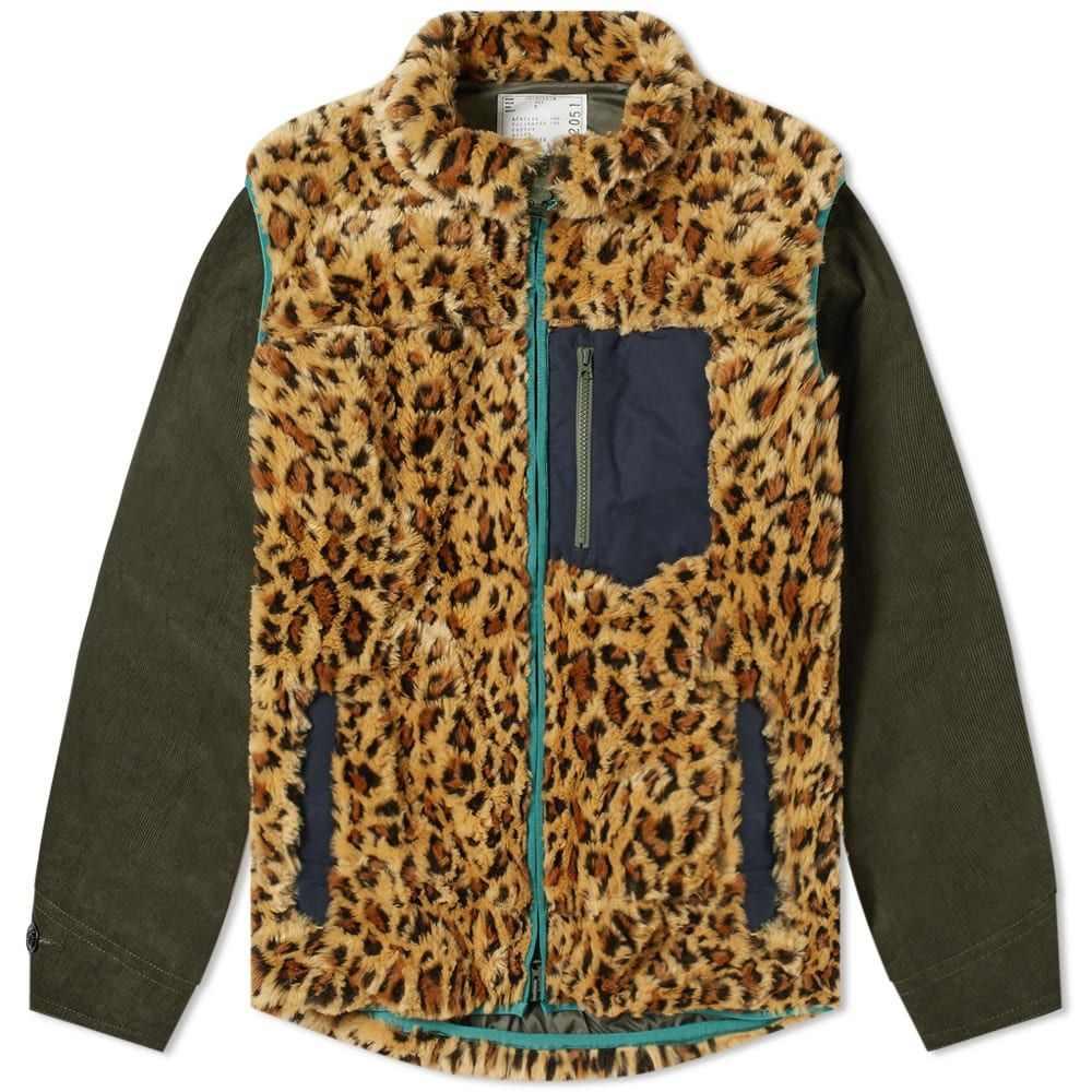 サカイ Sacai メンズ フリース トップス【leopard fleece blouson】Beige