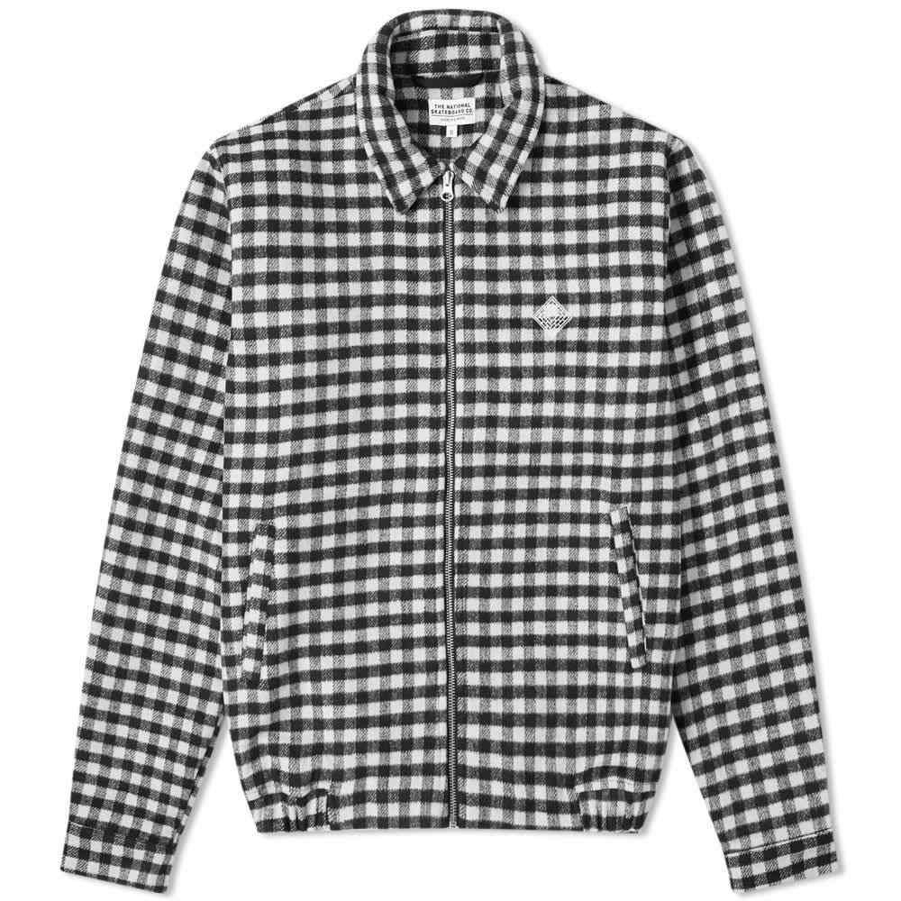 ザ ナショナル スケートボード The National Skateboard Co. メンズ ジャケット スイングトップ アウター【harrington jacket】Checked Black/Light Grey