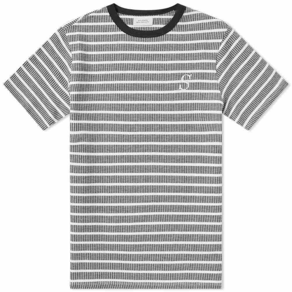 サタデーニューヨーク Saturdays NYC メンズ Tシャツ トップス【brandon dash stripe tee】Black