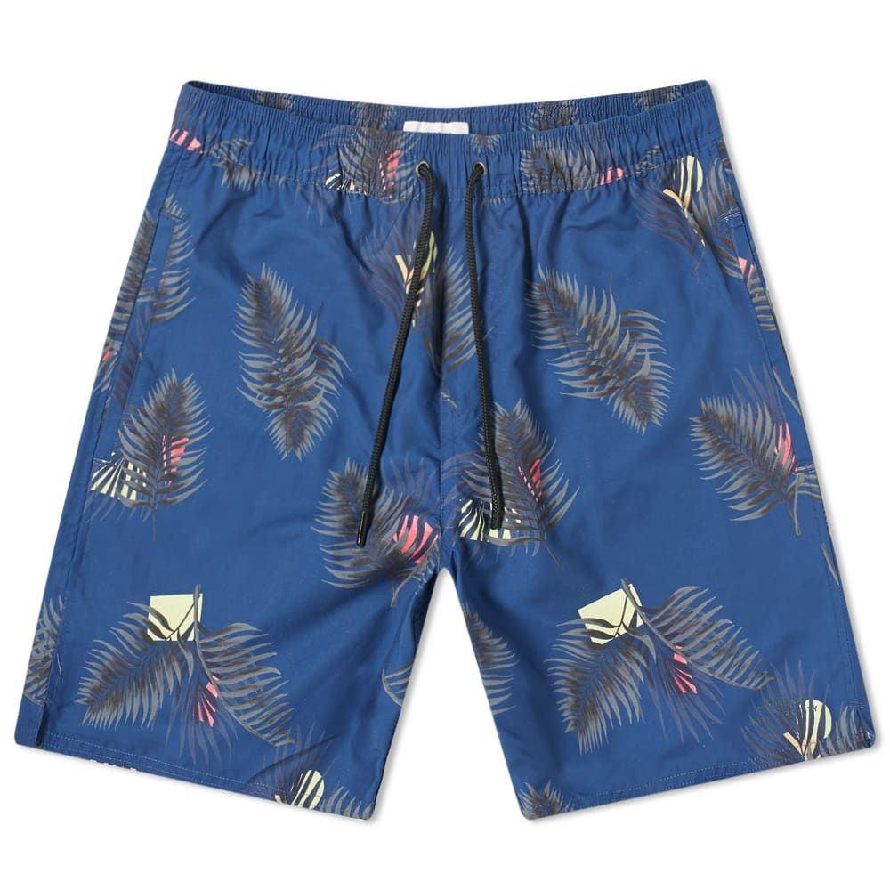 サタデーニューヨーク Saturdays NYC メンズ 海パン 水着・ビーチウェア【timothy peak palm swim short】Cobalt