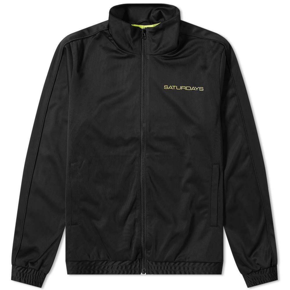 サタデーニューヨーク Saturdays NYC メンズ ジャージ アウター【everett track jacket】Black
