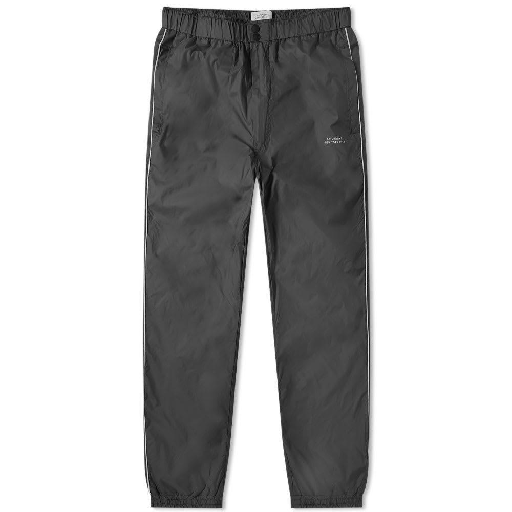 サタデーニューヨーク Saturdays NYC メンズ スウェット・ジャージ ボトムス・パンツ【gino track pant】Black