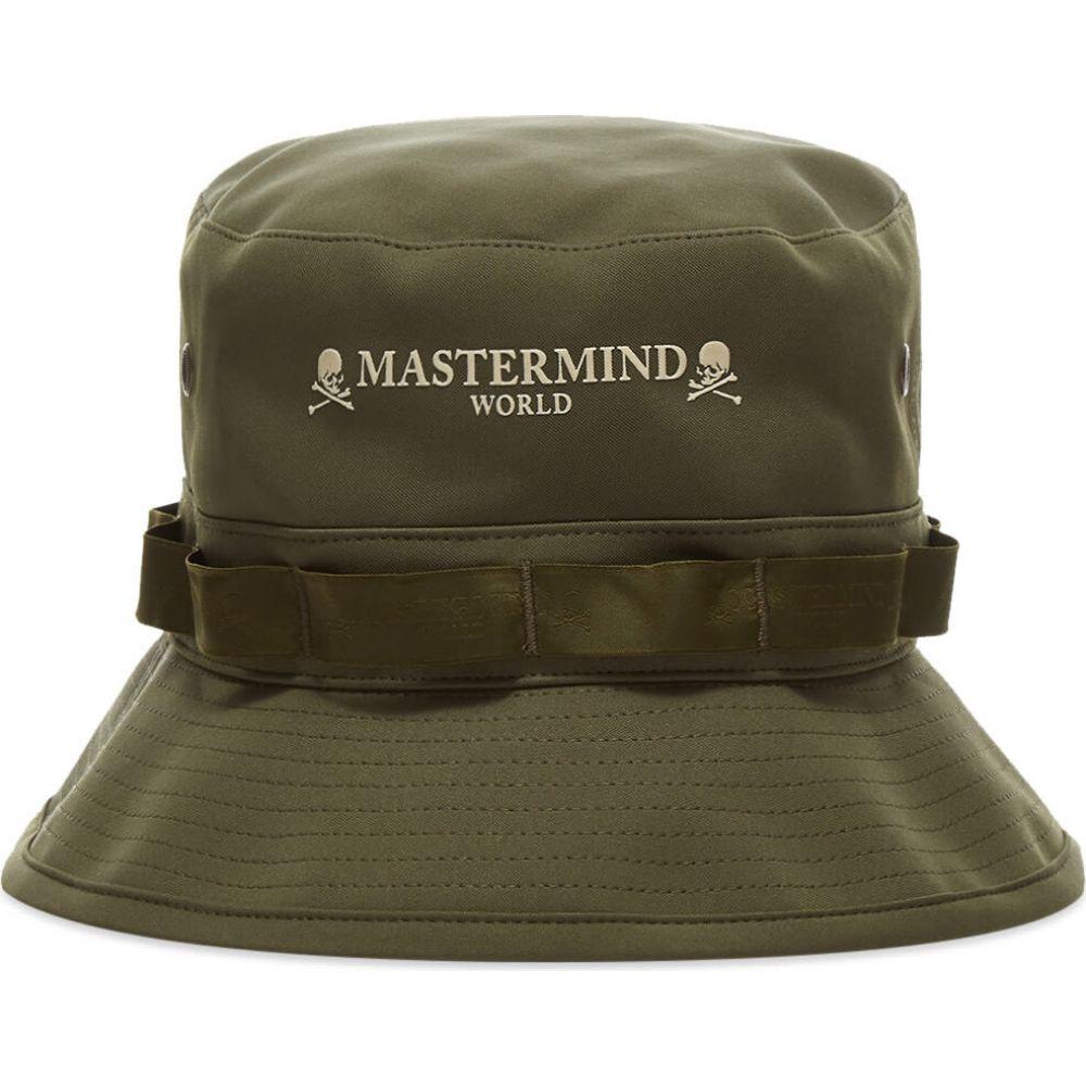 【良好品】 マスターマインド MASTERMIND WORLD メンズ ハット バケットハット 帽子【Logo Bucket Hat】Olive, 虻田町 1cdafdd3