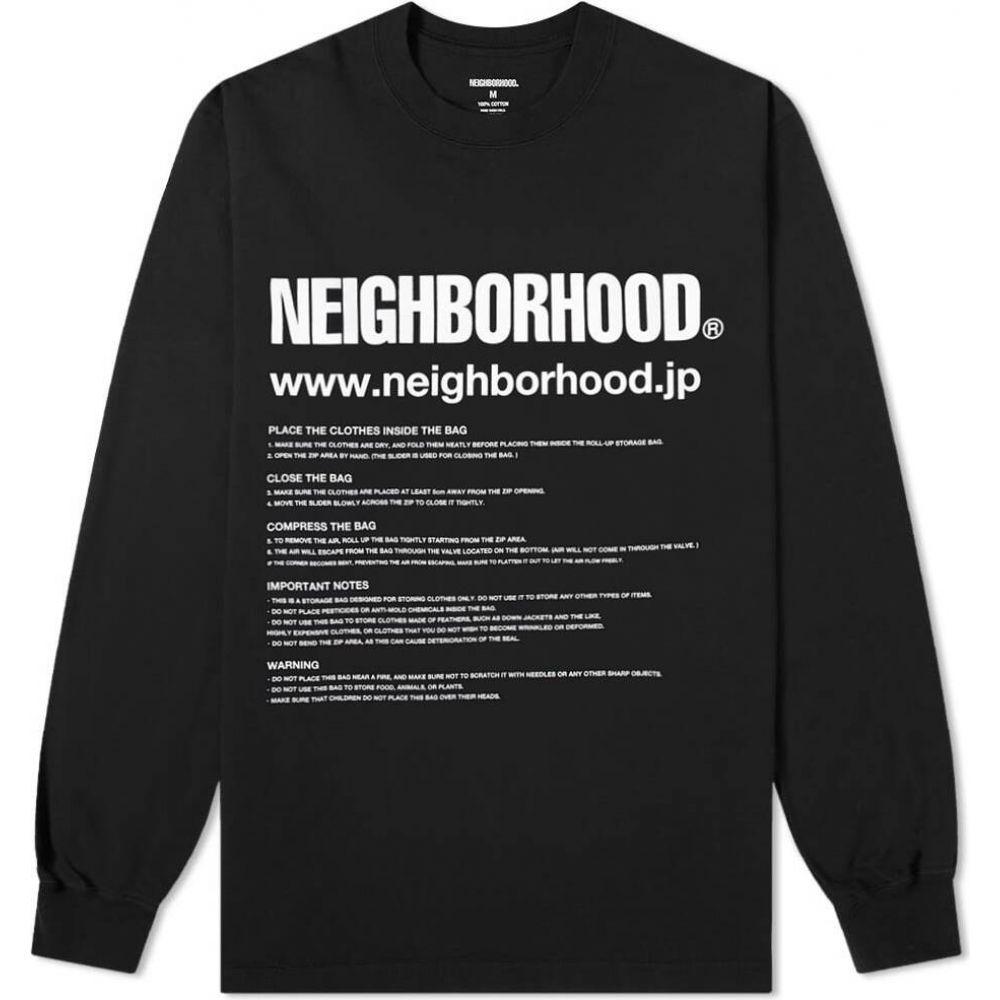 トップス【ID Tシャツ Neighborhood メンズ Tee】Black ネイバーフッド