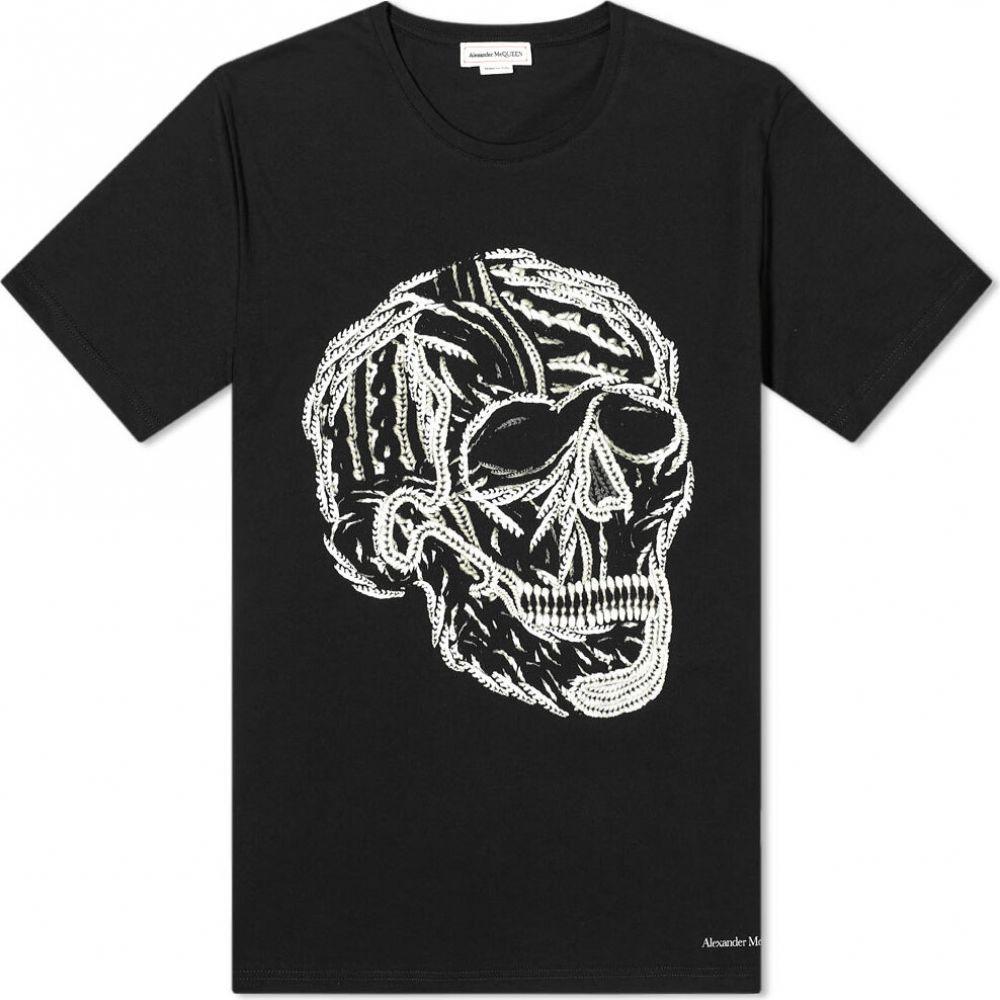 【最安値に挑戦】 アレキサンダー マックイーン Alexander Tシャツ Alexander McQueen メンズ Tシャツ トップス【Skull アレキサンダー Tee】Black, BROOX YOGA:492e5e8e --- rishitms.com