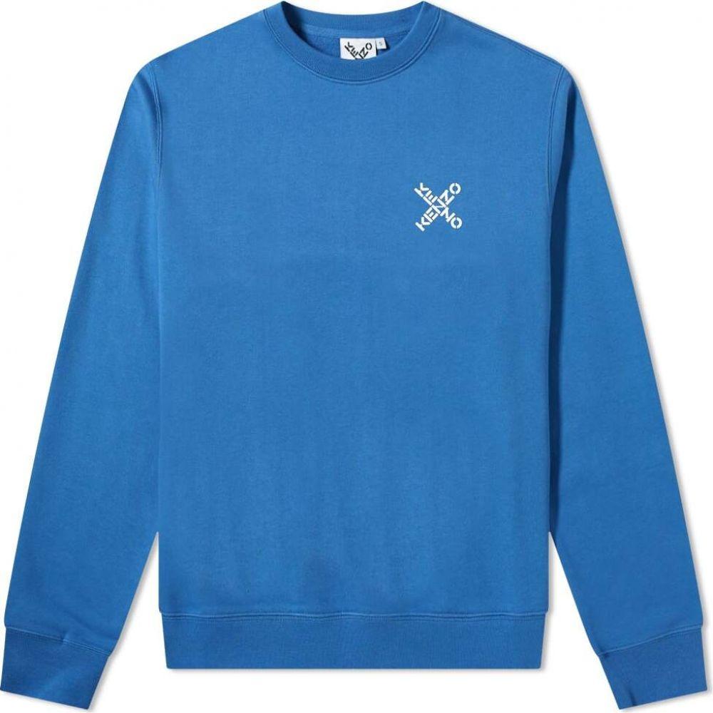 【激安大特価!】 ケンゾー Crew Kenzo メンズ スウェット・トレーナー トップス【Sport メンズ トップス【Sport X Logo Crew Sweat】Cobalt, アイショップビューティ:a1483c90 --- rishitms.com