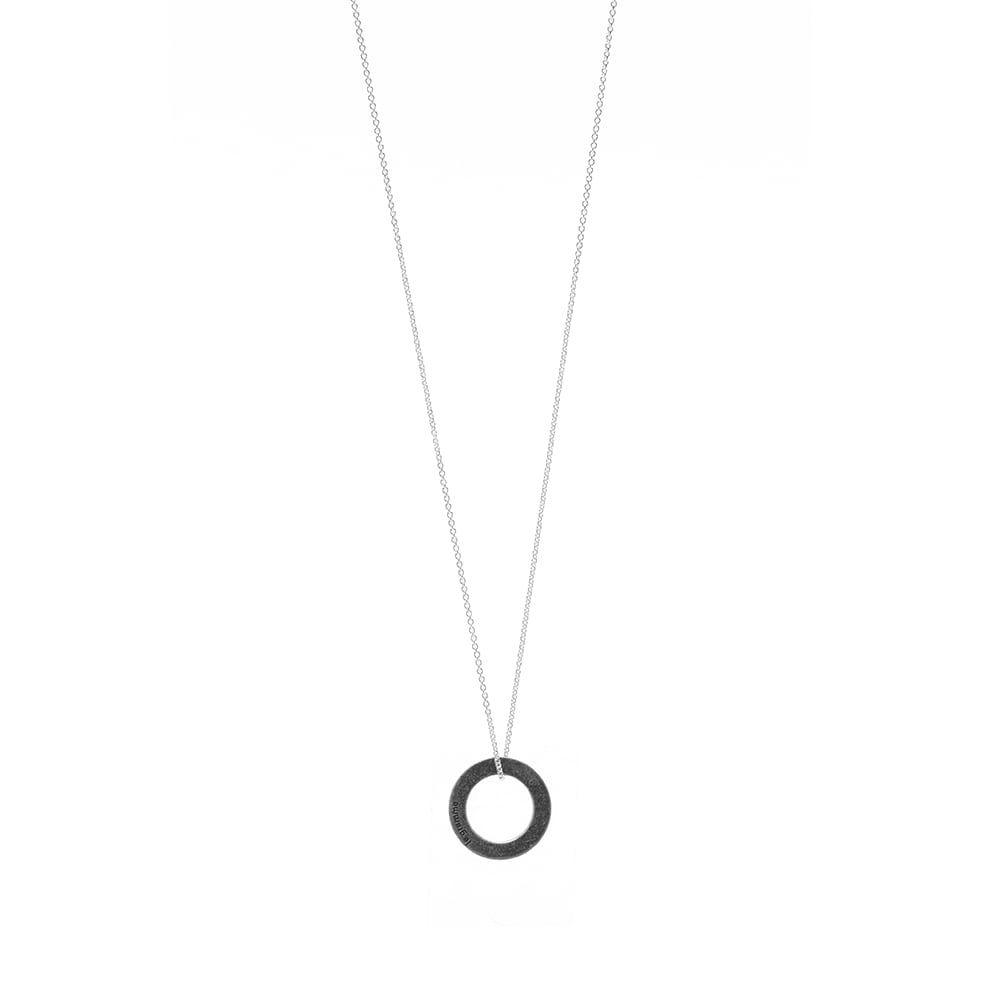 ルグラム メンズ ジュエリー アクセサリー ネックレス Sterling サイズ交換無料 Le Necklace Pendant Gramme Oxidized Circle 配送員設置送料無料 オンライン限定商品