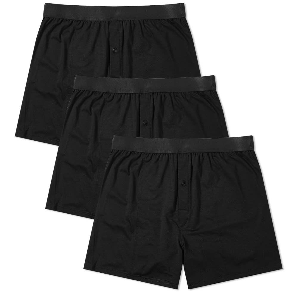 シーディーエルピー CDLP メンズ インナー・下着 ボクサーパンツ【Boxer Short - 3 Pack】Black