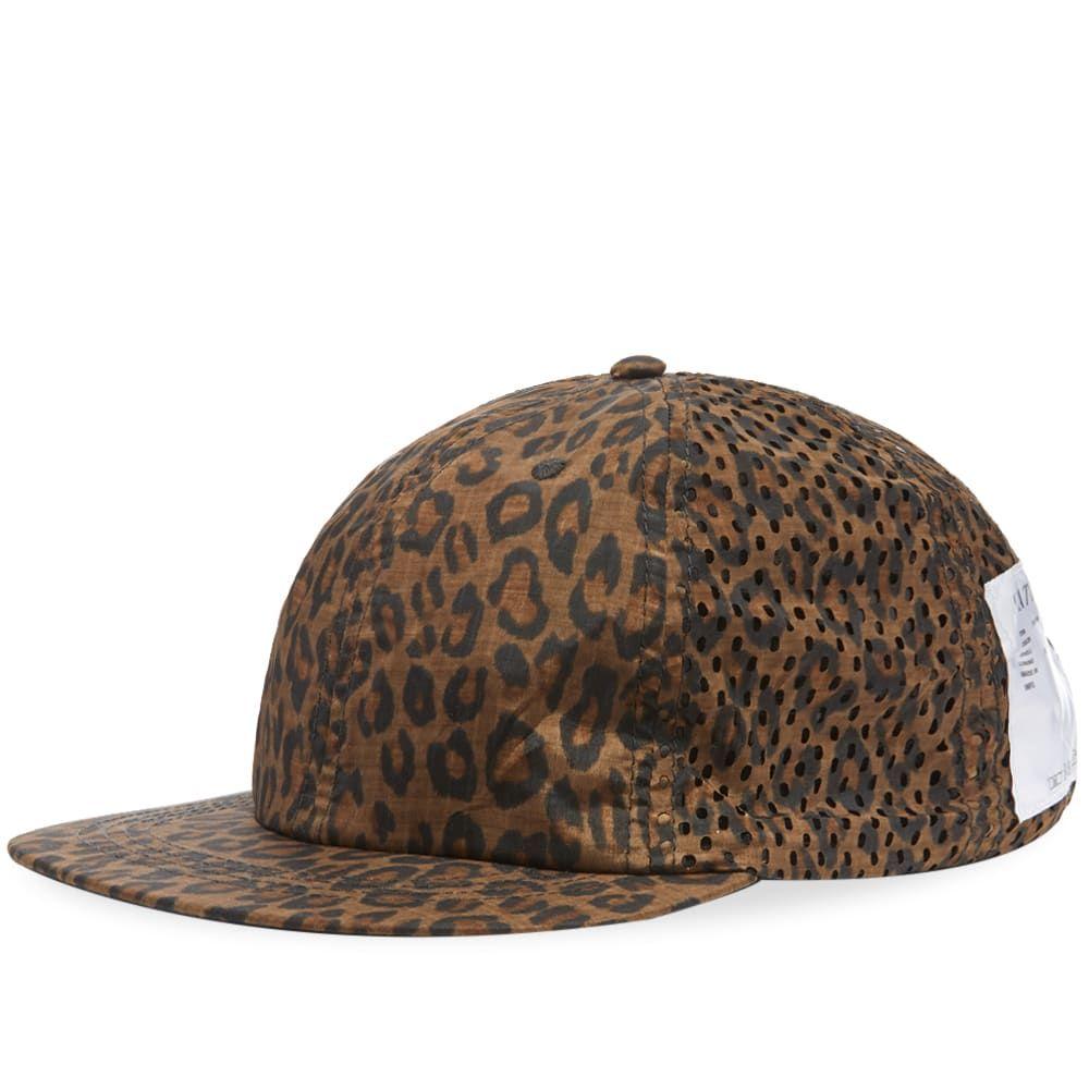 サティスフィ Satisfy メンズ 帽子 キャップ【Perforated Running Cap】Leopard