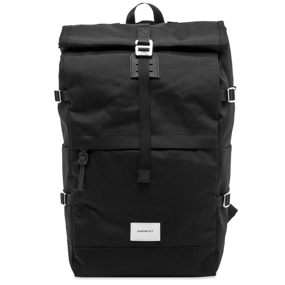 サンドクヴィスト Sandqvist メンズ バックパック・リュック バッグ【bernt cordura roll top backpack】Black
