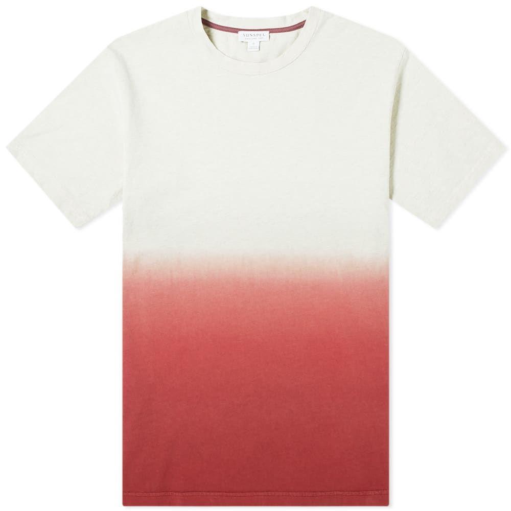 サンスペル Sunspel メンズ Tシャツ トップス【riviera ombre tee】Archive White Melange