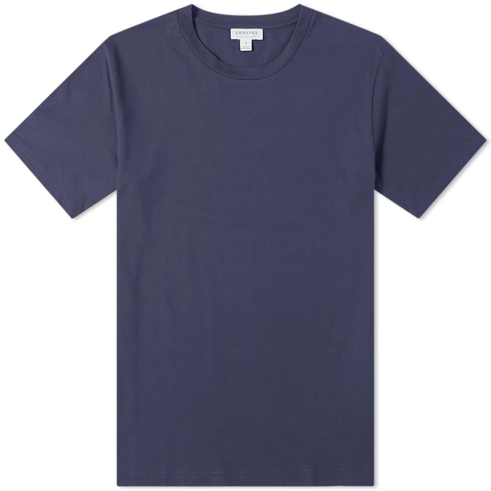 サンスペル Sunspel メンズ Tシャツ トップス【organic riviera tee】Navy
