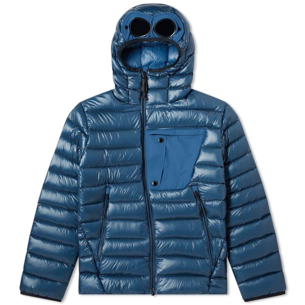 シーピーカンパニー C.P. Company メンズ アウター ダウン・中綿ジャケット【Down Hooded Goggle Jacket】Dark Denim