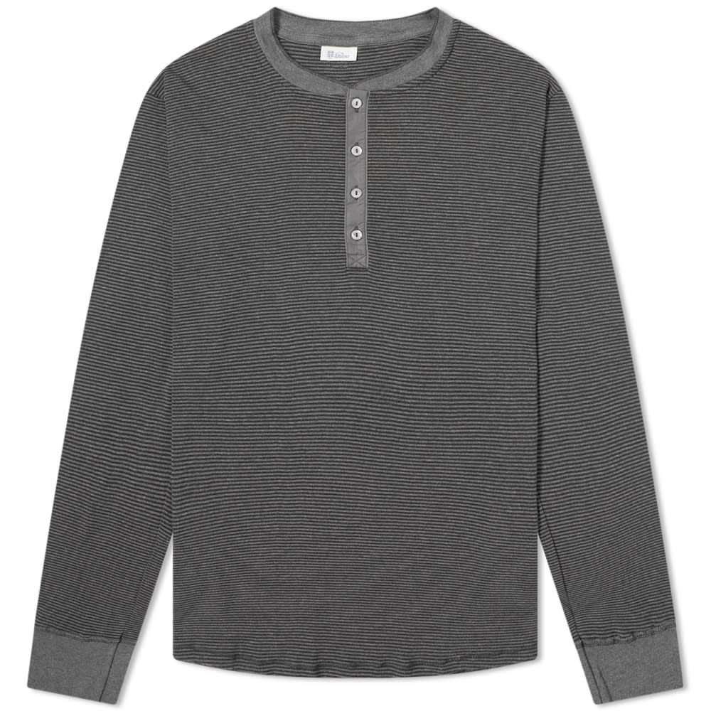 シーサー Schiesser メンズ 長袖Tシャツ ヘンリーシャツ トップス【karl-heinz long sleeve henley】Dark Grey Melange