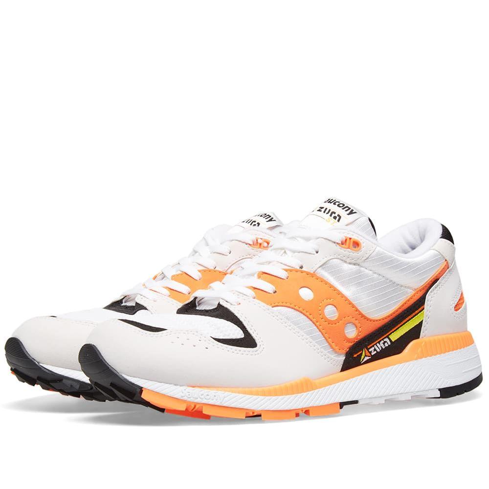 サッカニー Saucony メンズ スニーカー シューズ・靴【azura】White/Orange/Black