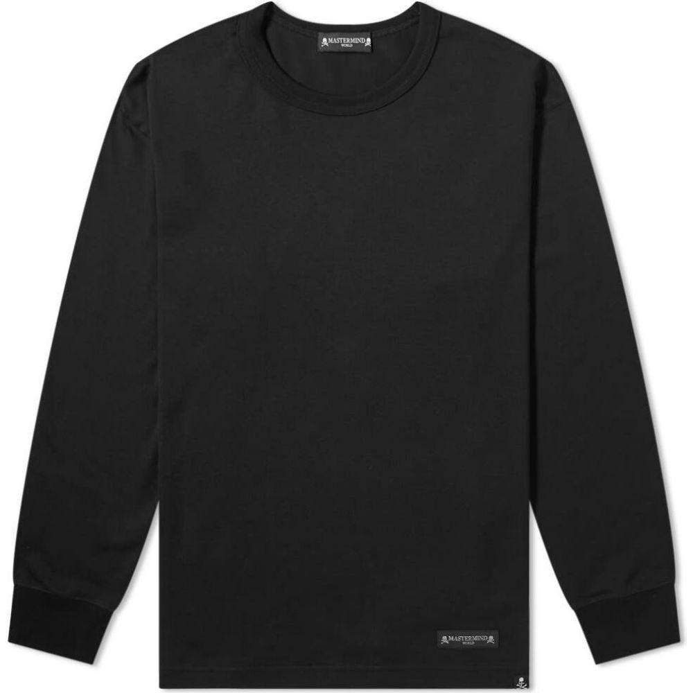 魅了 マスターマインド MASTERMIND WORLD メンズ 長袖Tシャツ トップス【Cursive Long Sleeve 長袖Tシャツ WORLD Sleeve Tee】Black, 家具工房Bridge-Online:9ac461ab --- adaclinik.com