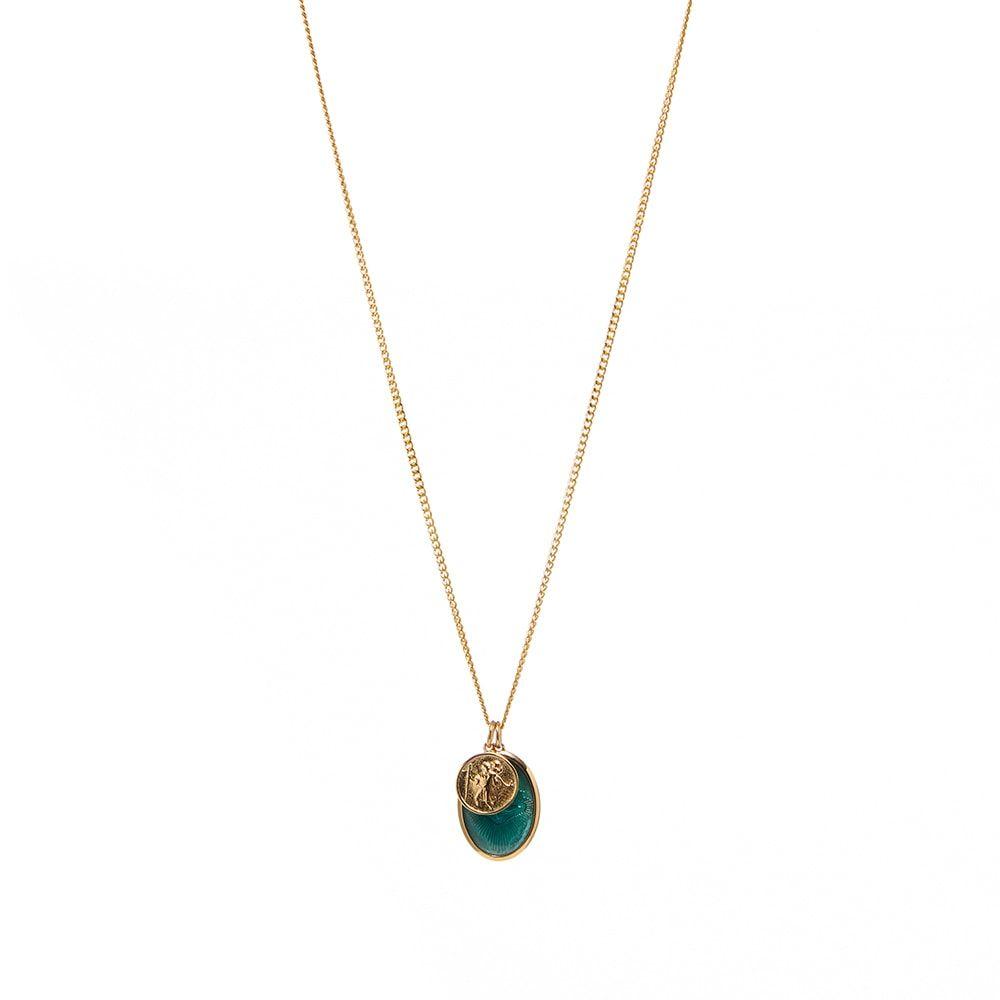 ミアンサイ 訳あり品送料無料 メンズ ジュエリー アクセサリー ネックレス 店舗 Gold Teal Pendant Dove Mini Miansai Necklace サイズ交換無料