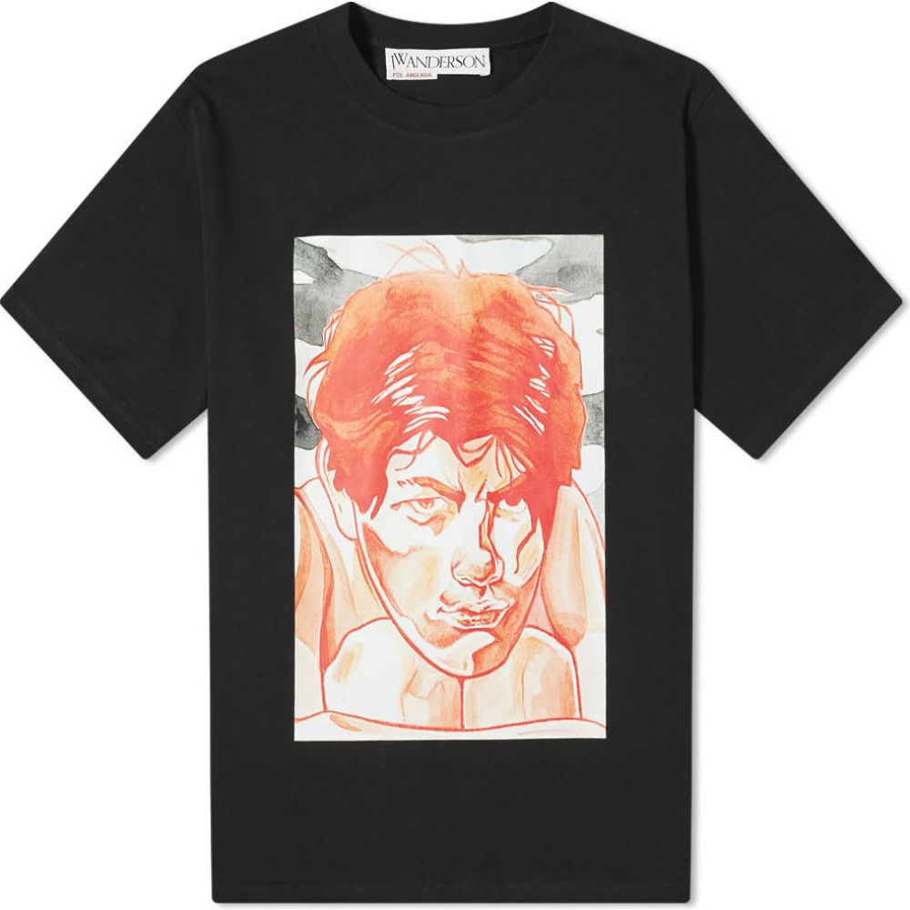 交換無料! J.W.アンダーソン JW Anderson Printed メンズ Tシャツ トップス JW Anderson【Oversized Printed Face Tee】Black, 軸受ショップ:12af3d61 --- kanvasma.com